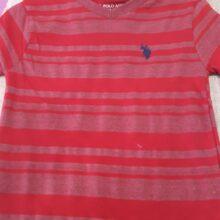 Polo Stripe Red Shirt