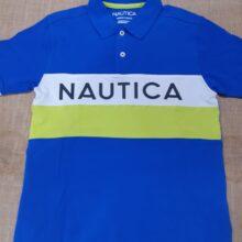 Blue Green and White Nautica Shirt