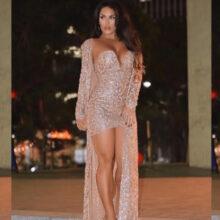 sexy sequin 2-piece dress