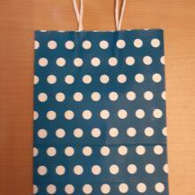 Blue Polka Gift Bag
