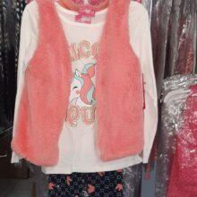 3 Piece Fluffy Vest Set