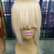 Blonde Bang plus Ponytail