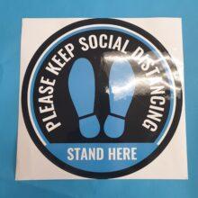 1 ft Floor Social Distancing Sticker
