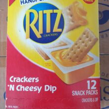 Ritz cheese and crackers 12 ct