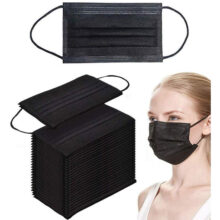 Case of Disposable Black mask