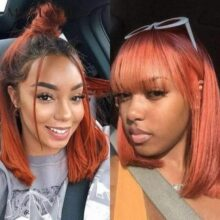 16″ Spice Frontal Wig with bang